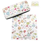 日本限定 SAN-X 角落生物 縫紉玩偶 愛心滿版 眼鏡盒&拭鏡布組