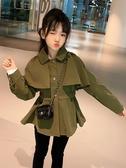 大童裝女童秋裝外套兒童風衣2019新款韓版洋氣女孩春秋季時髦網紅