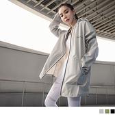 潮流設計印花素色防護外套(男女共版) OrangeBear《KS0943》