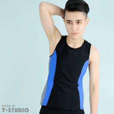 【T-STUDIO】束胸泳衣系列/中性撞色/套式束胸泳衣(單件銷售)