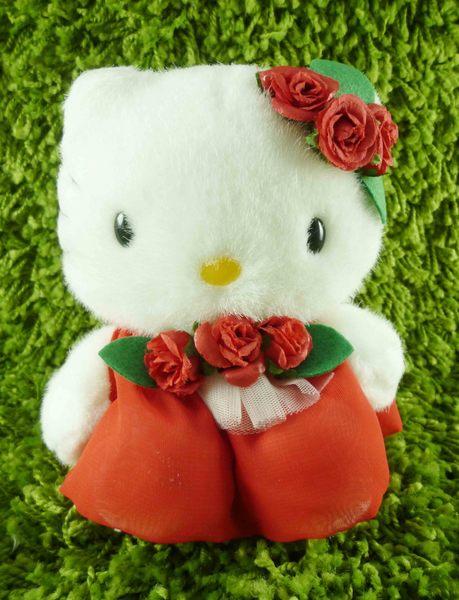 【震撼精品百貨】Hello Kitty 凱蒂貓~KITTY絨毛娃娃-葡萄牙服飾-紅色