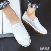 夏季懶人一腳蹬休閒男鞋百搭發型師潮鞋皮鞋WL2567【俏美人大尺碼】