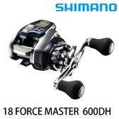 ★全新到貨★ 漁拓釣具 SHIMANO 18 FORCE MASTER 600DH (電動捲線器)