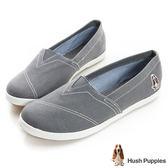 Hush Puppies 基本款咖啡紗懶人鞋-灰色