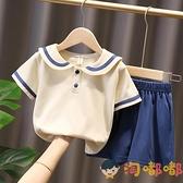 女童夏季套裝童裝兒童短袖女孩衣服寶寶運動休閒【淘嘟嘟】