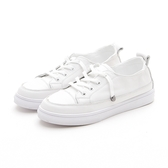 MICHELLE PARK  小白鞋百搭簡約懶人鞋帶休閒小白鞋白鞋帶