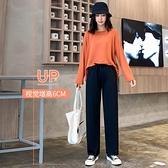 灰色運動褲女寬鬆直筒夏季寬管高腰垂感2021新款顯瘦百搭休閒薄款 「雙10特惠」