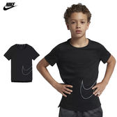 Nike Pro Big Kids' 大童裝 男 女 運動上衣 短袖 短T 乾爽 舒適 訓練上衣 排汗 AH1043010