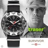 丹大戶外用品【Traser】TRASER Survivor 軍錶(尼龍錶帶) #105470