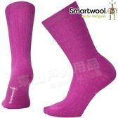 Smartwool SW672-A11粉霧紫 女麻花紋輕薄中長襪 美麗諾羊毛襪/機能襪/排汗襪/戶外運動襪/保暖雪襪