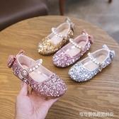 女童公主鞋2019新款時尚女童舞台高跟鞋舞蹈演出主持鞋兒童鞋潮款