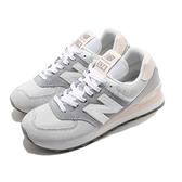 New Balance 休閒鞋 NB 574 灰 白 女鞋 運動鞋 麂皮 復古慢跑鞋 【ACS】 WL574LBRB