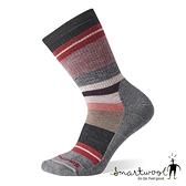 Smartwool 女 中級減震徒步印花中長襪『淺灰』SW001298 美國製|保暖襪|登山襪|運動襪