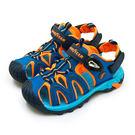 LIKA夢 GOODYEAR 固特異 19cm-23cm 多功能運動磁扣護趾涼鞋 魅力一夏系列 藍橘 98963 中童