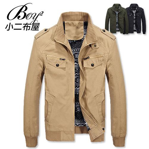 軍裝外套 騎士立領內裡圖騰風格保暖外套【NZ78711】