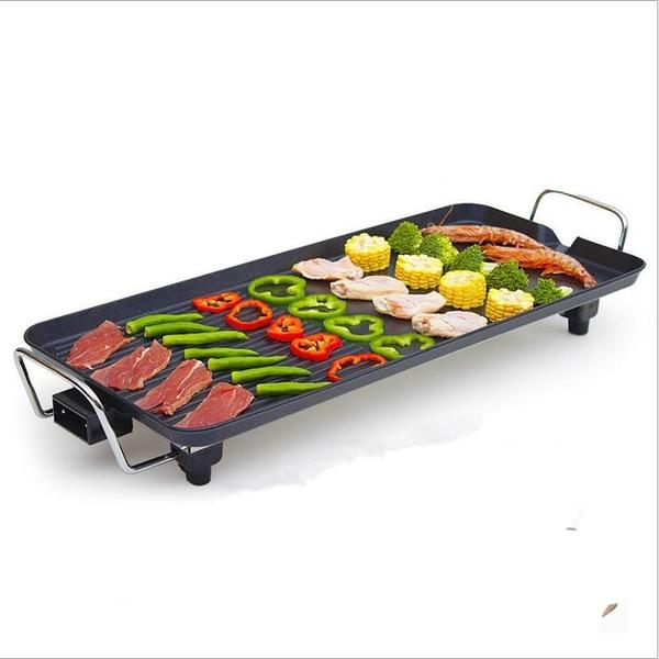 韓式多功能電燒烤槃 特大號加厚68CM*28CM 無煙燒烤爐烤魚爐家用不粘烤肉電煎鍋 【快速出貨】