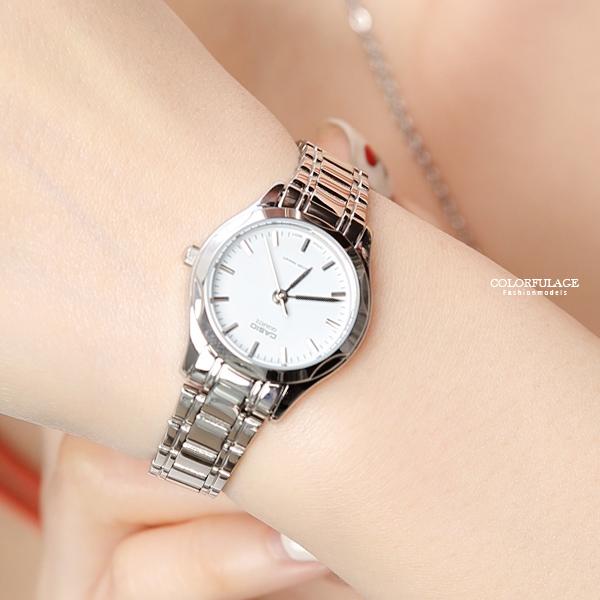 CASIO卡西歐簡約俐落風格腕錶 女生質感錶款【NEC120】