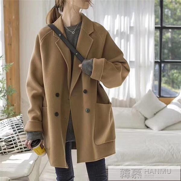 2020年新款雙面羊絨大衣女士中長款秋冬季小個子加棉加厚毛呢外套 母親節特惠