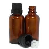 茶色玻璃精油空瓶30ml (含蓋子+內滴管)