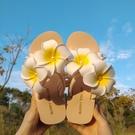 仙女拖鞋 SUNNY COLOR涼拖鞋女夏外穿時尚百搭波西米亞海邊度假花朵沙灘鞋