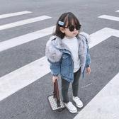 兒童牛仔外套女童牛仔外套2020新款兒童洋氣女寶寶秋冬加絨小童裝潮派克服冬裝 新品