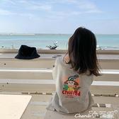2021春秋季新款女童字母印花連身裙兒童寬鬆寶寶長袖圓領T恤裙 小天使