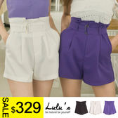 LULUS特價-Y-壓摺高腰西裝短褲-附腰帶S-L-3色  現+預【04060904】