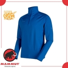 【MAMMUT 瑞士 Snow ML HZ Pull 男《群青藍》】1010-21950/快乾/半門襟/UPF50+/立領/上衣