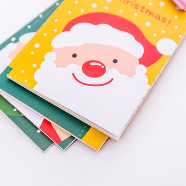 【BlueCat】聖誕節老人雪人麋鹿手掌型隨身筆記本