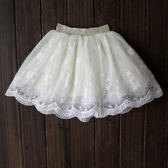 公主裙兒童寶寶純棉短裙子白色百褶蓬蓬裙