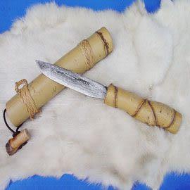 郭常喜與興達刀具--郭常喜限量手工刀品-竹筒藝術刀(A0023)