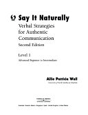 二手書博民逛書店 《Say It Naturally》 R2Y ISBN:0030271932│Cengage Learning