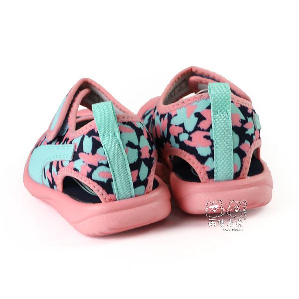 Puma Aquacat Inf 粉花 魔鬼氈 包頭 涼鞋 寶寶鞋 小童鞋 NO.R5546