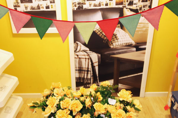 [韓風童品]出口韓國12片紅綠三角旗 嬰兒房佈置 露營 兒童帳篷裝飾 生日派對 場景佈置 掛旗 慶生