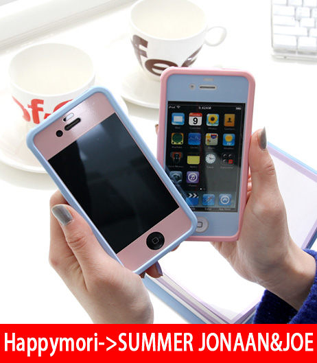 【韓國正原裝 Happymori】※color film for iphone4/4S※ 多變色彩保護貼 適用Apple iphone4s/4共五色