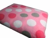 【貝淇小舖】  保暖商品~100%珍珠絨《粉圈》刷毛搖粒雙人床包3件組