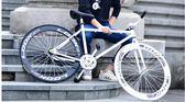 AODU死飛自行車男女款式倒剎倒騎30/60刀公路賽車學生復古單車igo「韓風物語」