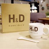 H&D下午茶杯組 精緻咖啡對杯-一組二入 (附茶匙)【H&D DESIGN】