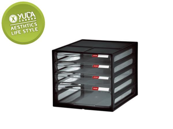 【YUDA】樹德 桌上型樹德櫃 DD-113(4抽) 資料櫃/效率櫃/收納櫃(二色隨機配送)