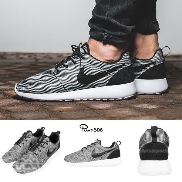 【五折特賣】 Nike 休閒慢跑鞋 Roshe One Prem Plus 黑 灰 休閒鞋 條紋 男鞋【PUMP306】 807611-100