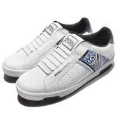 Royal Elastics 休閒鞋 Icon 免鞋帶 懶人鞋 白 藍 圖騰 數位格紋迷彩 男鞋【PUMP306】 02063005