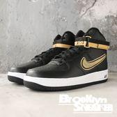Nike Air Force 1 High 黑金 暴龍隊 皮革 休閒鞋 男(布魯克林)2018/11月 AV3938-001