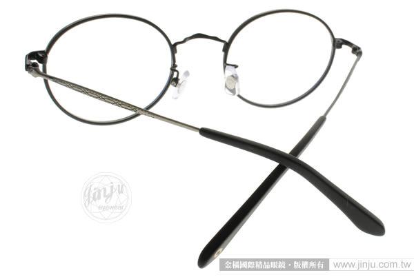 NINE ACCORD 光學眼鏡 PLACO DISCUZ1 C03 (黑-銀) 文青風極簡圓框款 # 金橘眼鏡