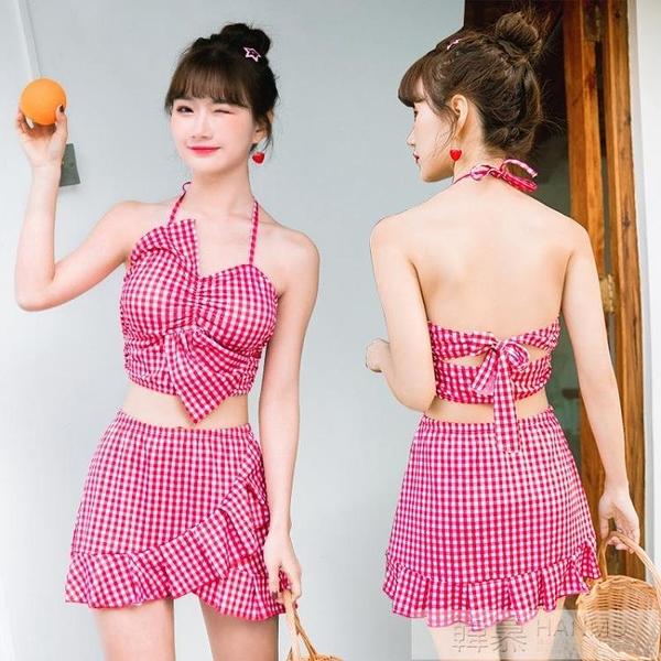 2020新款游泳衣女士韓版超仙溫泉分體小清新蝴蝶結兩件套可愛泳裝比基尼   母親節特惠