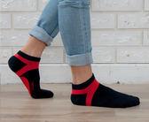(男襪) 抗菌襪 除臭襪 吸濕排汗除臭襪 抗菌機能氣墊短襪 - 丈青配紅色【W090-20】Nacaco