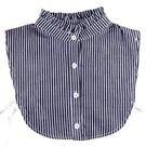 假領子襯衫穿搭假領片韓版假衣領T恤領條紋素面立領 大學T針織衫外套[E1361] 預購.朵曼堤洋行