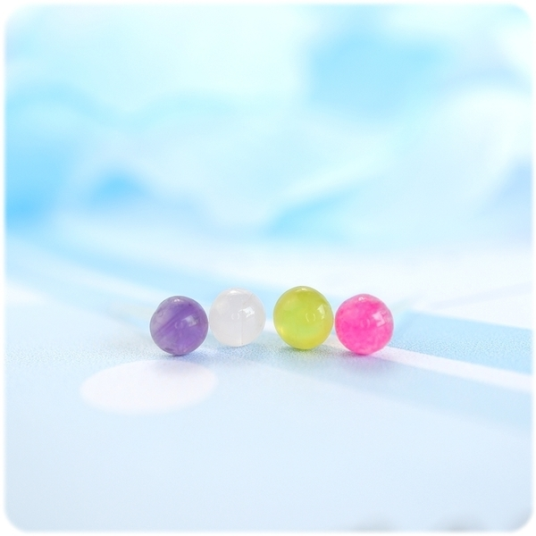 耳環 水晶寶石系列 - 小水晶 透明耳針/耳夾 (單只價) i917ღ