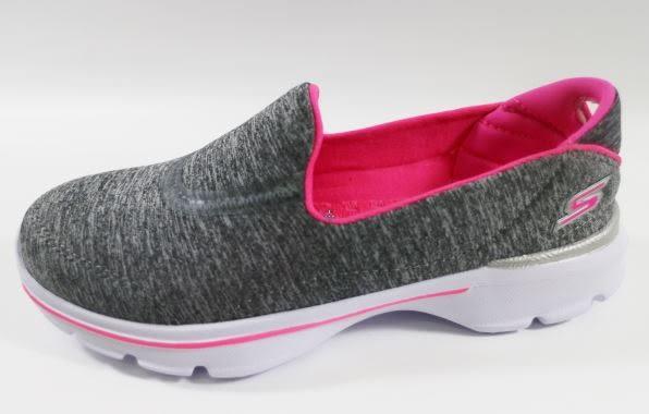 【零碼13號】SKECHERS 中童鞋 GoWalk3 超軟Q底 81076LGRY 灰雪花[陽光樂活]