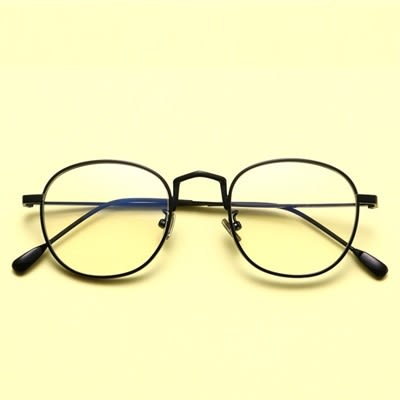 鏡架(圓框)-簡約百搭復古潮流男女平光眼鏡4色73oe60[巴黎精品]