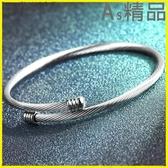 Pr 男手鍊簡約男士手鐲韓版個性手鍊鈦鋼學生手飾手環